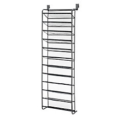 36 Pair Over-The-Door Shoe Rack with Mesh Shelves