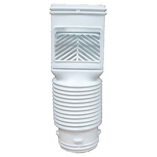 Flex-Grate Downspout Filter White