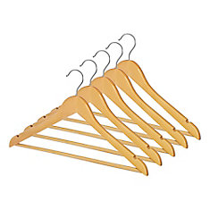 Wooden Suit Hangers, Set of 5