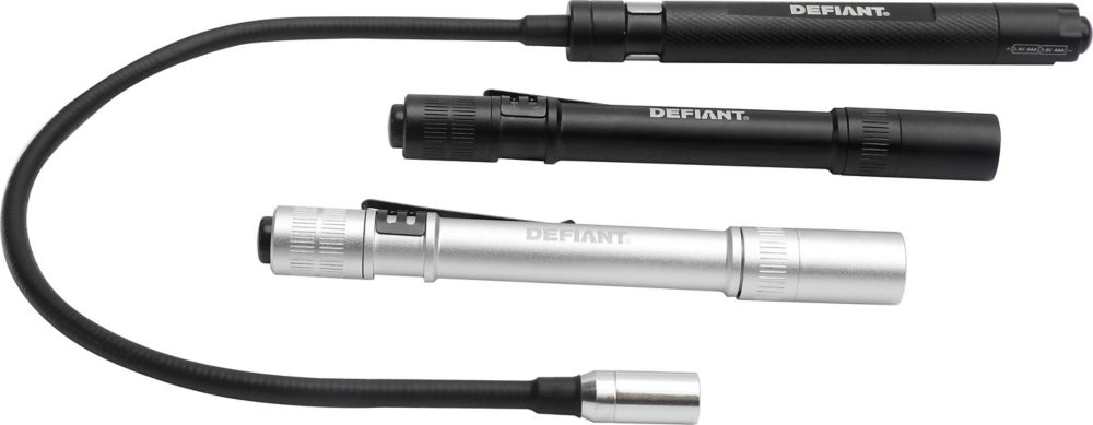 Defiant Penlight and Mini Flex Light Combo (3-Piece)