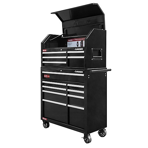 42-inch 14-Drawer Tool Chest and Cabinet Set in Black