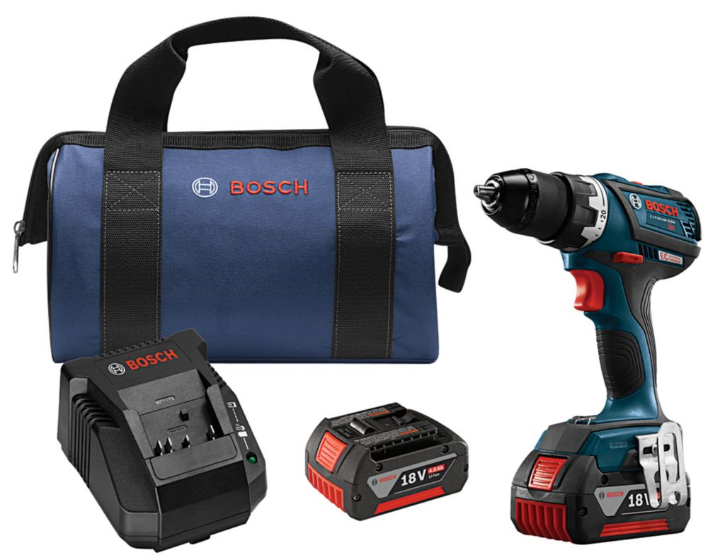 Bosch 18V EC Brushless Compact Tough 1/2 Inch Drill/Driver Kit