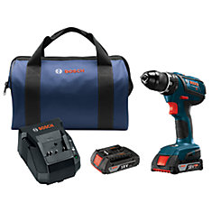 Compact Tough 18V Cordless 1/2-inch Drill/Driver with 2 Batteries & Charger