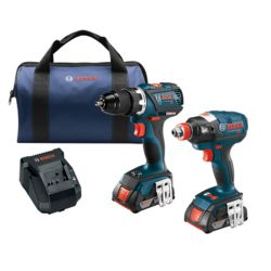 Bosch 18V Li-Ion Cordless Brushless Drill & Driver Combo Kit with 2 Batteries & Charger