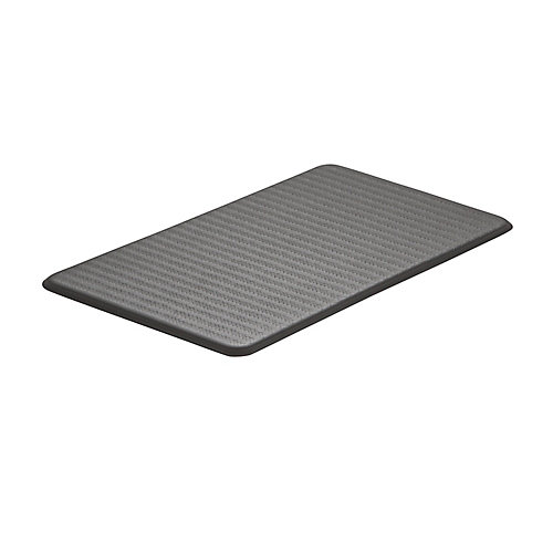 Chevron Series Steel Grey 20-inch x 36-inch x 5/8-inch Anti-Fatigue Mat