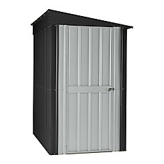4 ft. x 6 ft. Lean-To Steel Storage Shed in Grey