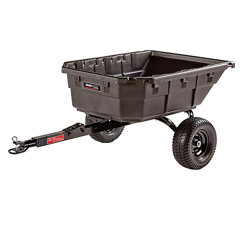 15 cu. ft. Poly Hybrid Tractor/ATV Dump Cart, 1250 lb. capacity
