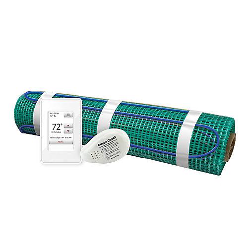 Kit de chauffage au sol par rouleau 120V-Tempzone 18 pi avec thermostat à écran tactile
