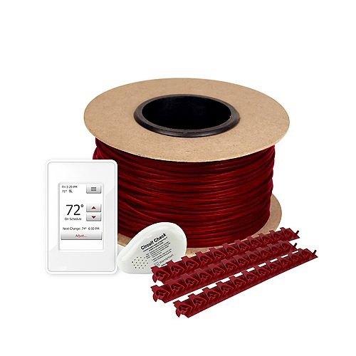 WarmlyYours 220 ft. 120V Tempzone Cable Floor Heating Kit with Touch Screen Thermostat