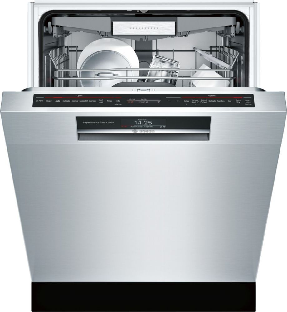 Bosch 800 Series - 24 inch Home Connect Dishwasher w/ Recessed Handle - 42 dBA - Flexible 3rd Rack