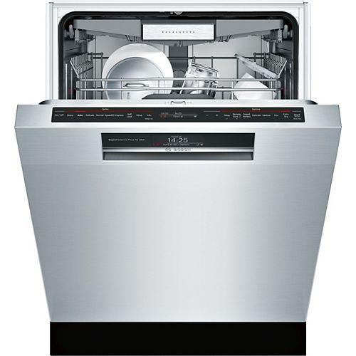 Série 800  Lave-vaisselle Home Connect de 24 po avec poignée encastrée  42 dBA  3e panier polyvalent