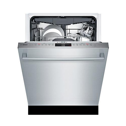 Série 300  Lave-vaisselle de 24 po poignée saillante  44 dBA  3e panier standard  adoucisseur eau