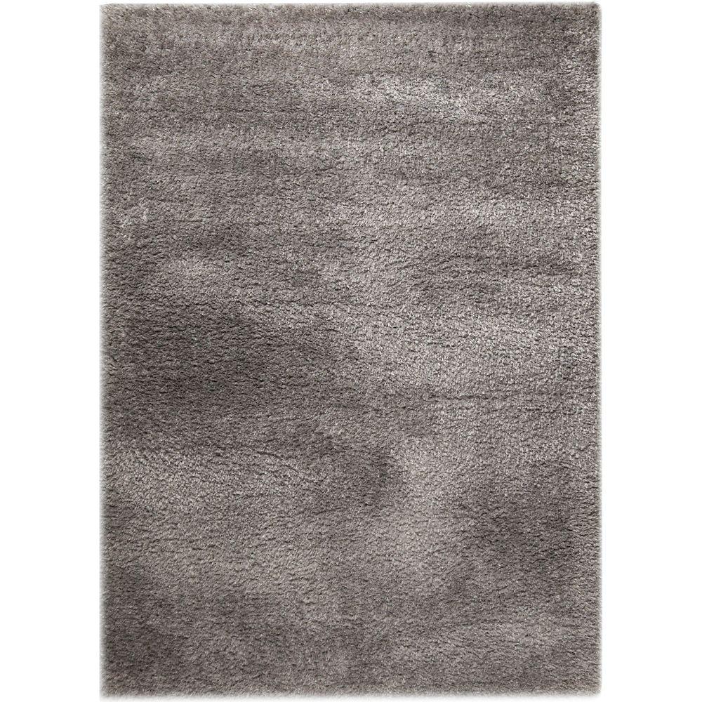 Lisa Grey 5 ft. 2-inch x 7 ft. 6-inch Indoor Shag Rectangular Area Rug