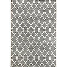 Silky Grey 7 ft. 9-inch x 9 ft. 8-inch Indoor Contemporary Rectangular Area Rug