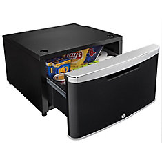 ELEV8 Contemporary Classic Storage - Compact Fridge Pedestal - Midnight Metallic Black