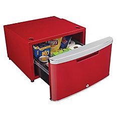 ELEV8 Contemporary Classic Storage - Compact Fridge Pedestal - Scarlett Metallic Red