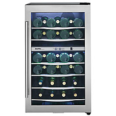 Designer 38 Bottle Stainless Steel Dual Zone Wine Cooler