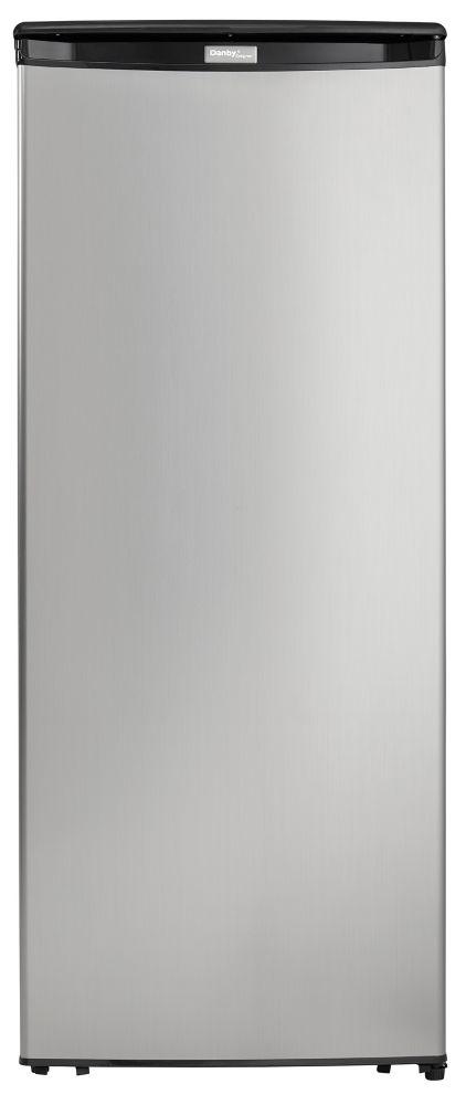 Danby 8.5 cu. ft. Upright Freezer in Spotless Steel DUFM085A4BSLDD
