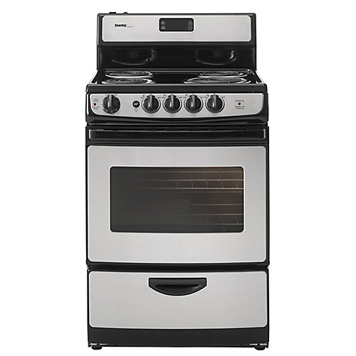 3 cu. Feet / 24 Inch Wide  Stainless Steel Electric Range