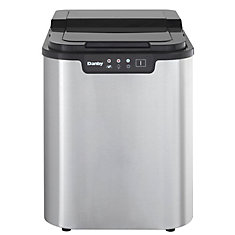 2 lb. Freestanding Ice Maker in Stainless Steel