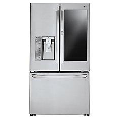 24 cu. ft. 3-Door French Door Refrigerator with InstaView Door-in-Door in Stainless Steel