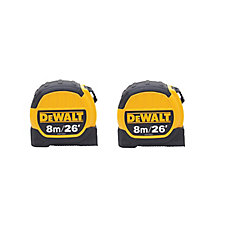 8M/ 26 ft. Tape Measure (2 Pack)