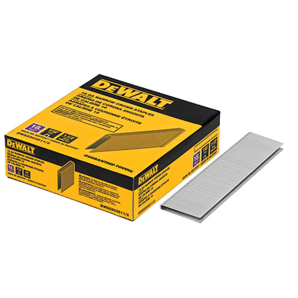 1-1/2-inch x 7/32-inch 18-Gauge Glue Collated Bright Steel Staples (3,000 per Box)