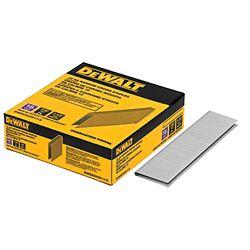 DEWALT Agrafes en acier brillant collées de calibre 18 de 1-1/2 po x 7/32 po (3 000 par boîte)
