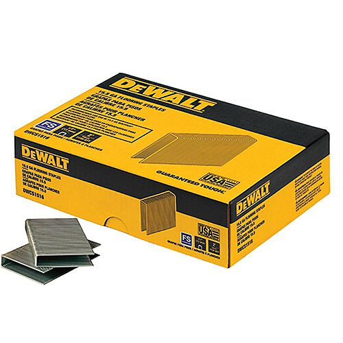 DEWALT 1/2-inch x 2-inch15.5-Gauge Crown Glue Collated Flooring Staple (1,000 per Box)