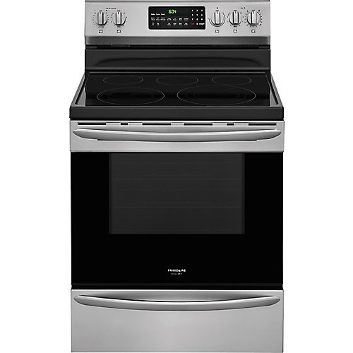 30-inch 5.7 cu. ft. Freestanding Electric Range with Self-Cleaning Oven in Stainless Steel