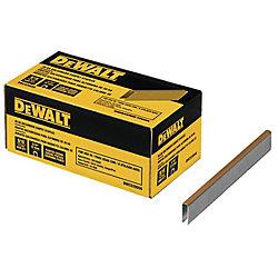 DEWALT Agrafes pour tapis galvanisées de calibre 20, 9/16 po L (boîte de 5 000)