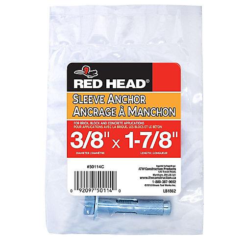 3/8 x 1-7/8-Inch Hex Head Sleeve Anchor - 1pc