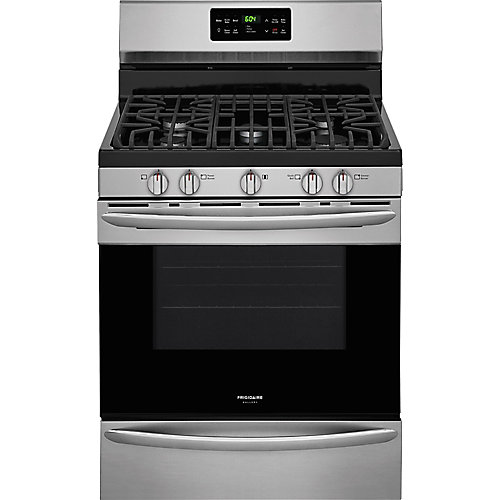 30-inch 5.0 cu. ft. Gas Range with Self-Cleaning and Convection in Stainless Steel
