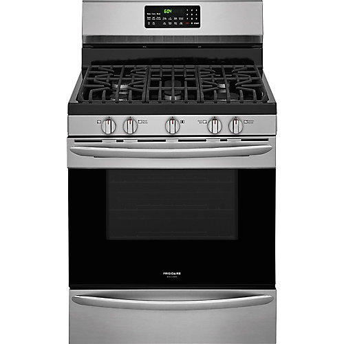 30-inch 5.0 cu. ft. Freestanding Gas Range with Convection Self-Cleaning Oven in Stainless Steel
