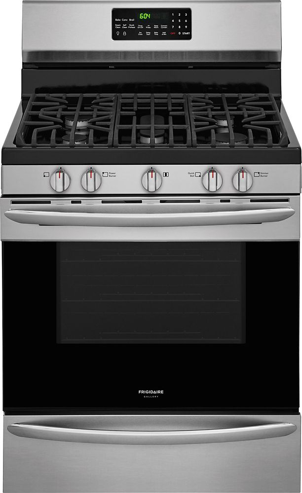Frigidaire Gallery 30-inch 5 cu. ft. Freestanding Gas Range in Smudge-Proof Stainless Steel
