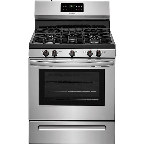 30-inch 5.0 cu. ft. Freestanding Gas Range with Self-Cleaning Oven in Stainless Steel