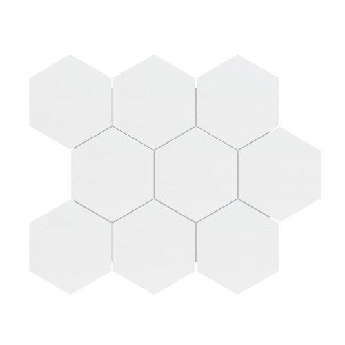 4-inch Metro White Matte Hexagon Porcelain Mosaics