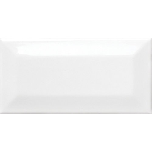 3-inch x 6-inch Metro Beveled White Gloss Wall Tile