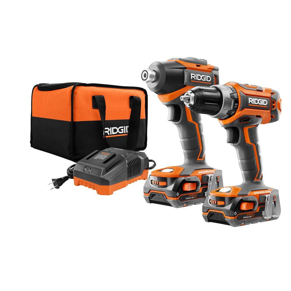 Rigid GEN5X 18V Lithium-Ion Brushless Cordless Drill/Driver and Impact Driver Combo Kit (2-Tool) R9603