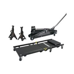 HUSKY 3 Ton Trolley Jack with Stands and Creeper