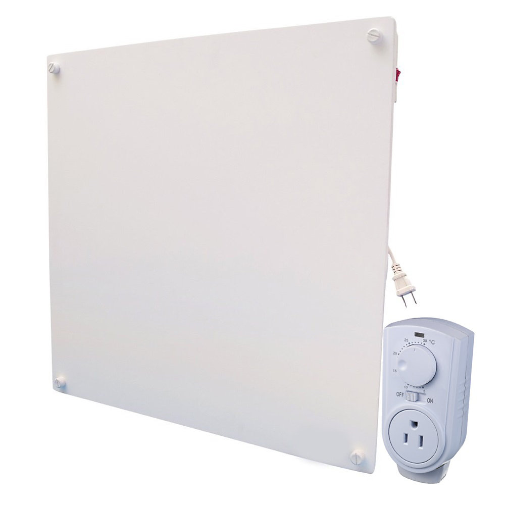 400w with Plug-in Thermostat Electric Panel Room Heater Wall Mounted Electric Panel Heaters on