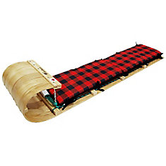 Frontier 5 Feet Toboggan with Plaid Pad