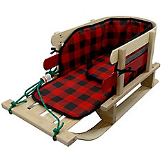 Frontier Sleigh with glowing plaid pad