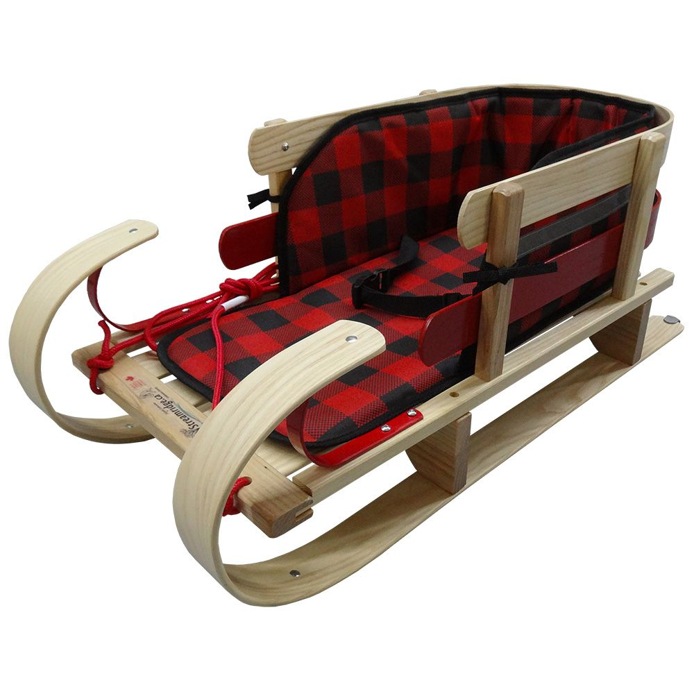 Streamridge Grizzly Kinder Sleigh with glowing plaid pad