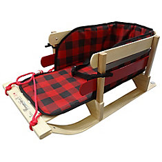Grizzly Sleigh with glowing plaid pad