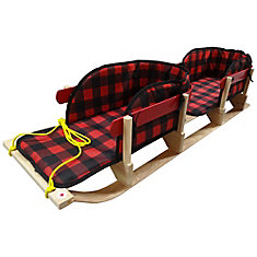 Traditional Double Sleigh with Plaid Pads