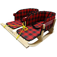 Traditional dual Sleigh with belted plaid pad