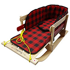 Traditional XL Sleigh with belted plaid pad