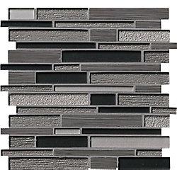 MSI Stone ULC Bodega 12-inch x 12-inch Interlocking Glass/Stone Blend Mesh Mounted Mosaic Wall Tile