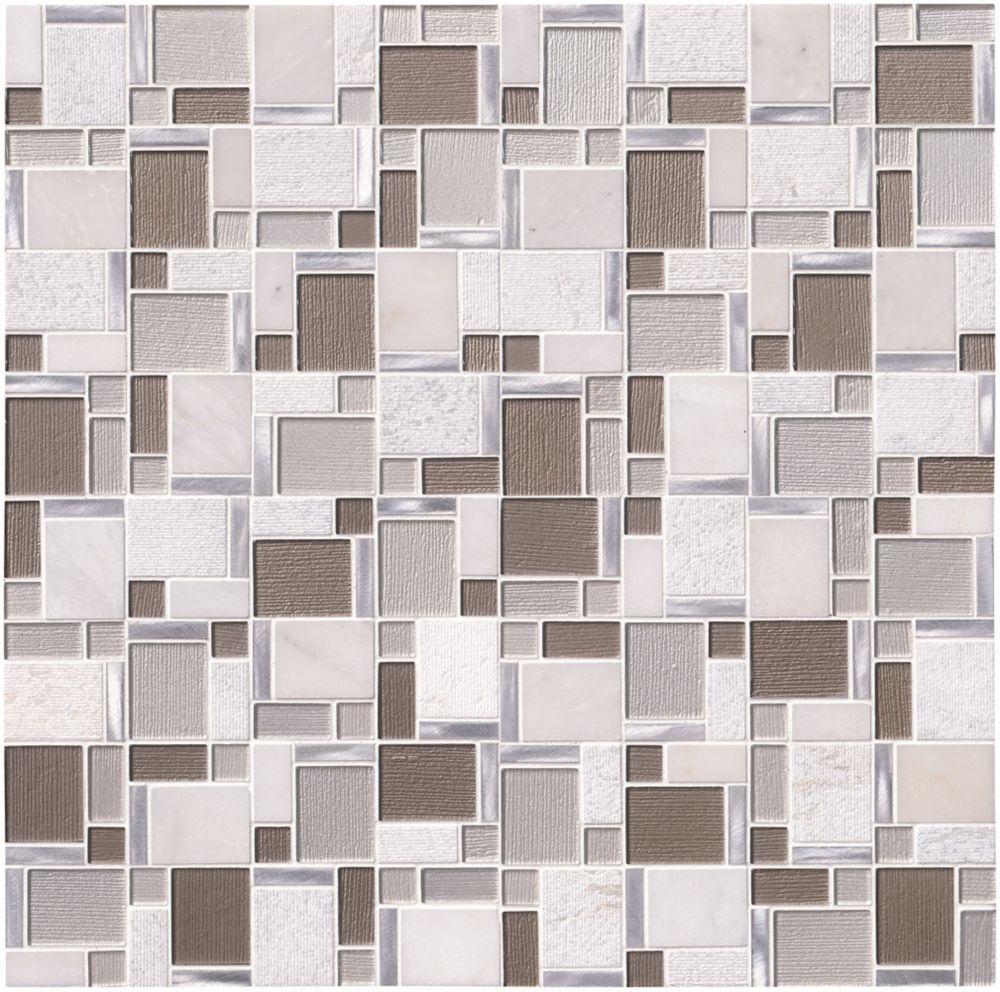 MSI Stone ULC Kalico 11.8-inch x 11.8-inch Glass/Stone Blend Mesh Mounted Mosaic Wall Tile